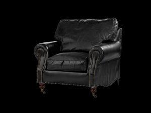 כורסא מעוצבת דגם סיסטר שחורה