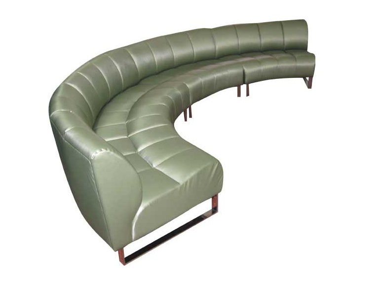 ספה פינתית בשבלונה עגולה דגם משינה